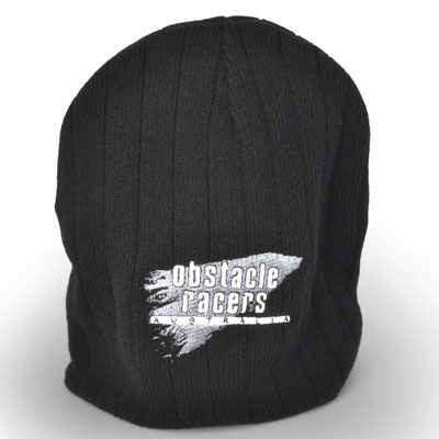 Beanie - Black with Gray Splash